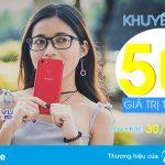 Vinaphone khuyến mãi 50% giá trị thẻ nạp ngày vàng 30/11/2017