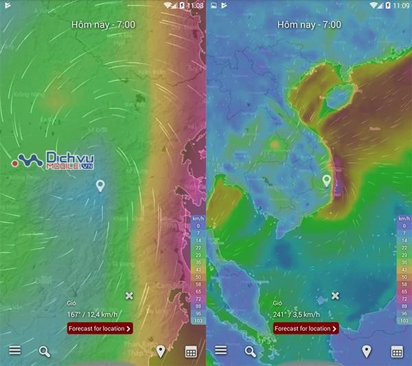 Cách xem đường đi, diễn biến cơn bão số 12 Damrey trên điện thoại và máy tính