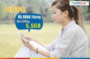 Cách đăng ký gói cước HD90 Mobifone ưu đãi đến 5,5GB data 4G dùng theo tháng