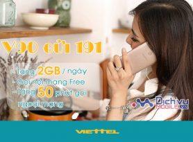 Cách đăng ký gói V90 Viettel có 2GB mỗi ngày Free gọi nội mạng chỉ 90,00đ/ tháng