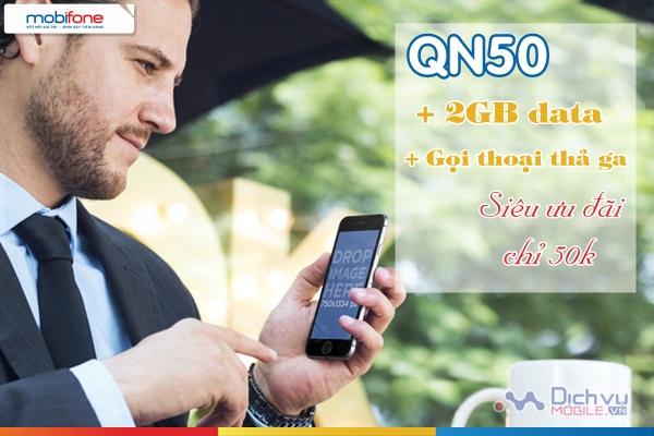 huong dan dang ky goi QN50 Mobifone