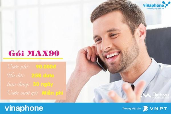 huong dan dang ky goi max90 vinaphone