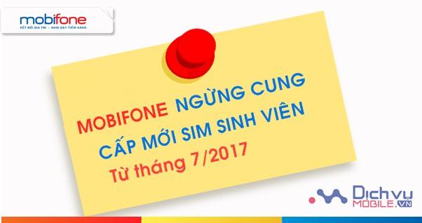 THÔNG BÁO: Mobifone chính thức ngừng cung cấp mới sim sinh viên