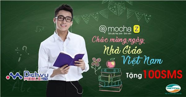 Viettel khuyến mãi tặng miễn phí 100SMS cho học sinh, sinh viên duy nhất 20/11