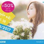 Vinaphone khuyến mãi nạp thẻ cục bộ ngày 17/11/2017