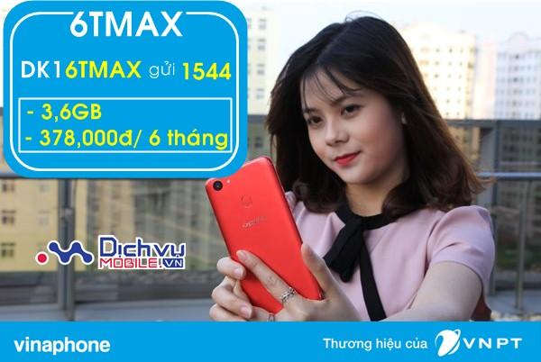Đăng ký 3G Vinaphone trọn gói 6 tháng với gói 6TMAX Vinaphone