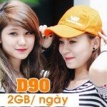 Đăng ký gói D90 Vietnamobile 2GB/ngày cho tất cả thuê bao