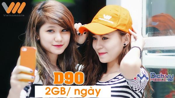 Vietnamobile chính thức triển khai gói 3G 2GB/ ngày D90 cho tất cả thuê bao