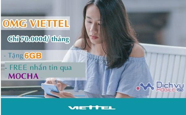 Cách đăng ký gói OMG Viettel ưu đãi 6GB data, miễn phí nhắn tin qua Mocha