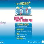 Hướng dẫn đăng ký gói VD89P Vinaphone ưu đãi 120GB và gọi không giới hạn trong tháng