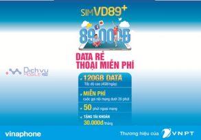 Cách nhận 120GB và gọi không giới hạn chỉ 89,000đ/ tháng từ gói VD890 Vinaphone