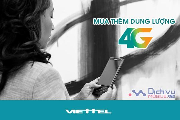 Hướng dẫn mua thêm dung lượng 4G mạng Viettel