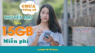 Cách nhận 15GB data 4G miễn phí từ nhà mạng Viettel