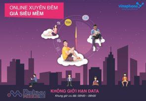 On line xuyên đêm giá siêu mềm với gói TD5 Vinaphone