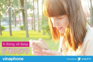 Hướng dẫn đăng ký gói 6TBIG70 mạng Vinaphone