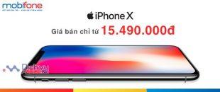 Mobifone bán iPhone X giá cực Sock chỉ 15.490.000đ