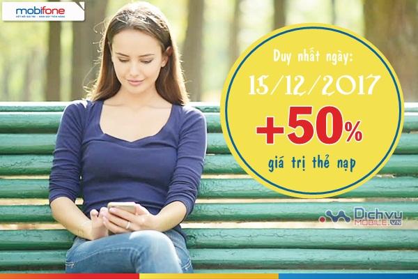 Mobifone khuyến mãi nạp thẻ ngày 15/12/2017