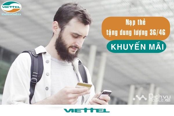 Viettel khuyến mãi nạp thẻ tặng data từ ngày 5/1/2017 đến 31/1/2018