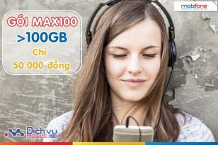 100GB data dành cho bạn khi đăng ký MAX100 Mobifone