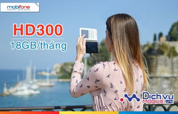 Đăng ký gói 4G HD300 Mobifone nhận 18GB lưu lượng tốc độ cao