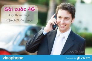 Đăng ký gói cước 4G Vinaphone tặng 60GB/tháng, gọi thoại thả ga