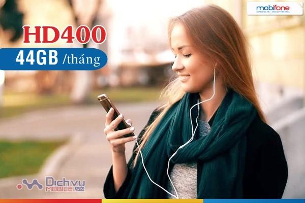 Đăng ký gói cước HD400 của Mobifone