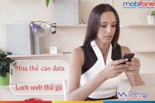 Hướng dẫn mua thẻ cào data của Mobifone