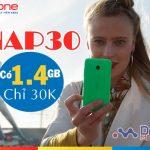 Cách mua thêm 1,4GB data chỉ 30,000đ với gói cước NAP30 Mobifone