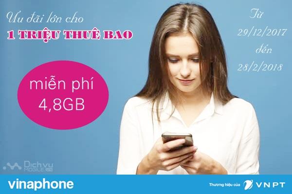 Tri ân khách hàng, Vinaphone tặng 4,8GB data miễn phí
