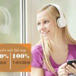 Vietnamobile khuyến mãi cộng đến 300% thẻ nạp ngày 6/1 đến 9/1/2018
