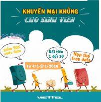 Viettel triển khai ba chương trình khuyến mãi khủng cho sinh viên từ 4/1 đến 9/1/2018