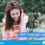 Hủy gói cước Zalo mạng Vinaphone qua SMS đơn giản