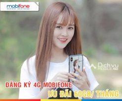 Các gói 4G Mobifone ưu đãi 60GB mỗi tháng gây sốt hiện nay