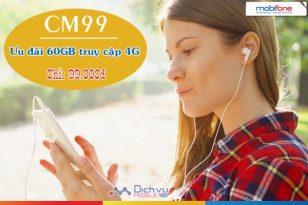 Đăng ký gói CM99 Mobifone - Nhận 60GB truy cập 4G chỉ 99.000đ