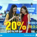 Vinaphone tặng 20% giá trị thẻ nạp ngày vàng 20/3/2018