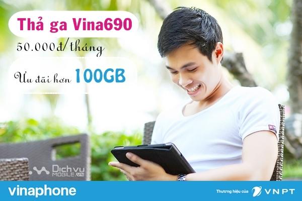 Hướng dẫn đăng ký gói Thả ga Vina690 Vinaphone