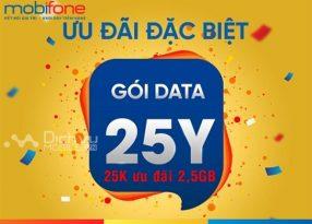 Hướng dẫn đăng ký gói 25Y Mobifone khuyến mãi cho khách hàng đến 2,5GB giá chỉ 25,000đ