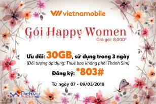 Gói Happy Women mạng Vietnamobile