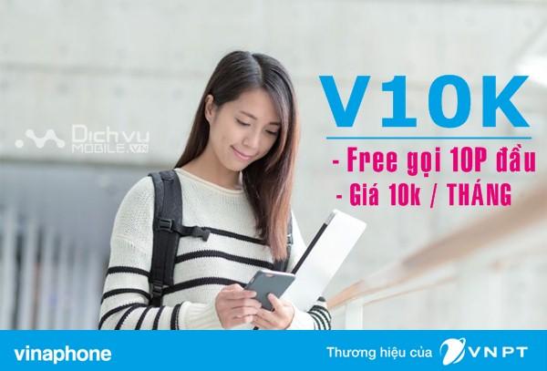 Gọi thoại Free chỉ 10,000đ khi đăng ký gói V10K mạng Vinaphone