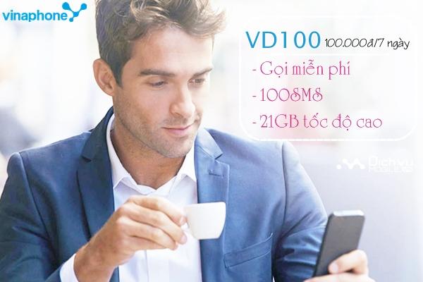 Hướng dẫn đăng ký gói VD100 mạng Vinaphonân
