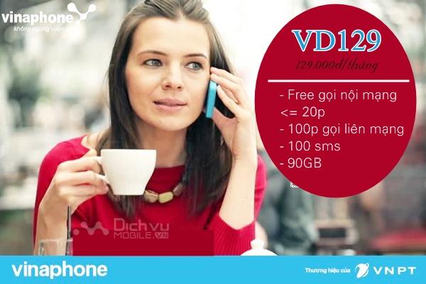 Hướng dẫn đăng ký gói VD129 mạng Vinaphone