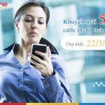 Mobifone khuyến mãi tặng 50% cước thanh toán trả sau ngày 22/3/2018