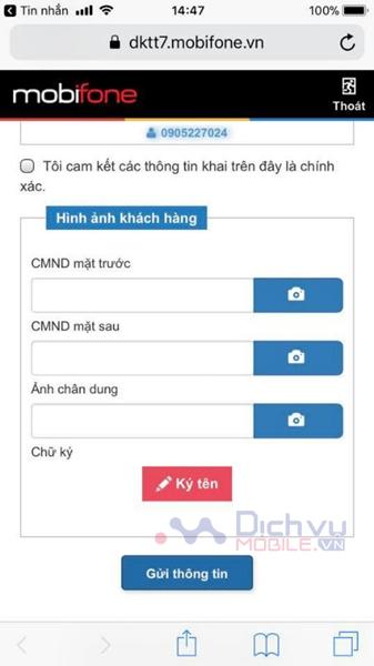 cách cập nhật và bổ sung ảnh MobiFone online NGAY TẠI NHÀ bước 4