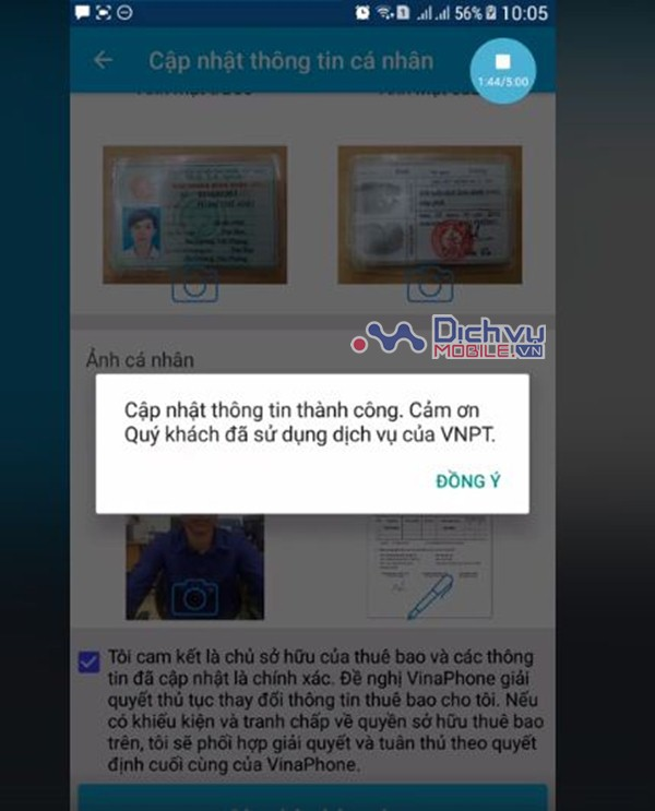 Cách đăng ký thông tin chính chủ theo nghị định 49 qua ứng dụng My Vinaphone