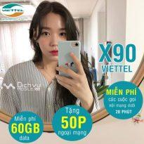 Đăng ký gói X90 mạng Viettel nhận 60GB/ tháng và ưu đãi thoại siêu khủng