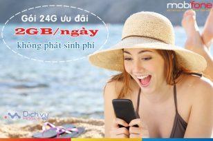 Gói cước 24G mạng Mobifone ưu đãi 2GB/ ngày