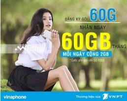Đăng ký gói 60G Vinaphone nhận ngay 60GB chỉ 50,000đ/ tháng