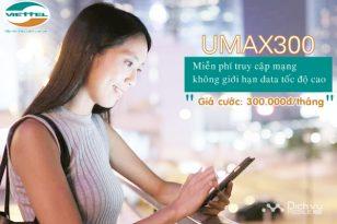 Hướng dẫn đăng ký gói UMAX300 mạng Viettel