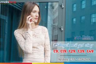 Các gói khuyến mãi gọi với các gói C9, C19, C29, C39, C49 mạng Mobifone