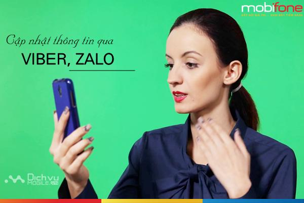 Mobifone cho phép cập nhật thông tin chính chủ qua zalo, viber